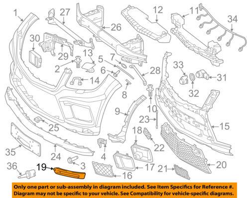 Details about MERCEDES OEM 13-16 GL550 Front Bumper Grille-Bezel Left  1668851774