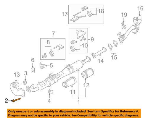 FORD OEM Exhaust Sysytem-Catalytic Converter Nut W705443S900