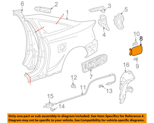 Genuine Toyota 00-05 Celica Fuel Door-Gas Cap Hatch 7735020311 OEM