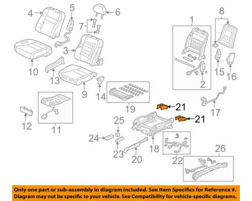 Front Right Honda Genuine 81131-SDB-A71ZC Seat Cushion Trim Cover