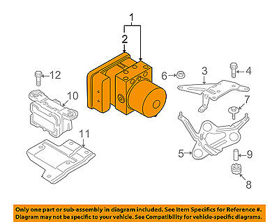 BMW OEM 08-13 M3 ABS Anti-Lock Brake System-Control Module 34507841955