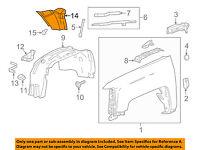 Chevrolet GM OEM Cruze-Fender Liner Splash Shield Panel Cover Left 95020223