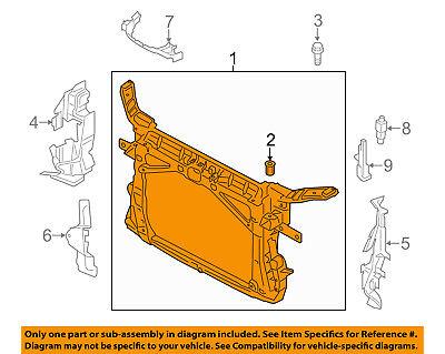 AUDI OEM 15 16 A3 Radiator Core Support Bracket Panel 8V0805588