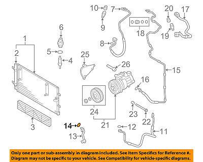 AUDI OEM A4 Quattro A/C AC Condenser/Compressor/Line-Ac Hose O-ring 4E0260749A