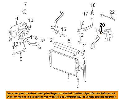 GM OEM Radiator Hoses-Water Outlet Seal 24572538