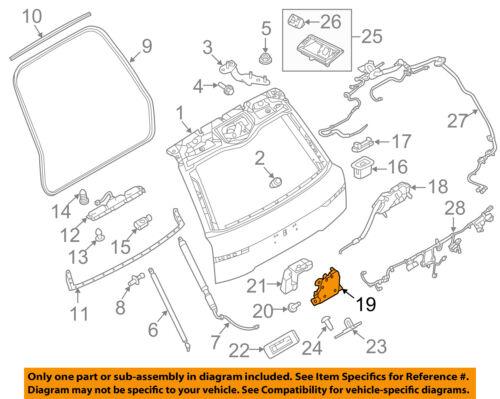 [DIAGRAM_1JK]  LAND ROVER OEM 14-15 Range Rover Sport Liftgate-Lock LR070126 for sale  online   Rover 25 Tailgate Wiring Diagram      eBay