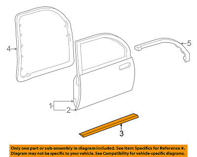 Buick GM OEM Rear Door-Lower Weatherstrip Weather Strip Seal Left 25634573