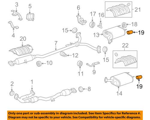 Lexus TOYOTA OEM 13-15 ES350 3.5L-Exhaust System Tail Pipe Extension  1740831090 | eBayeBay