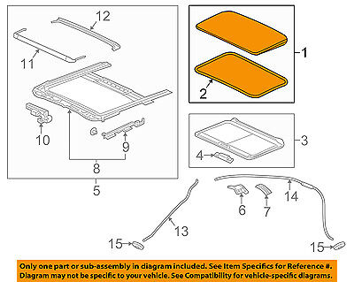 NISSAN OEM 13-16 Altima-Sunroof Moonroof Glass 912103TA1A