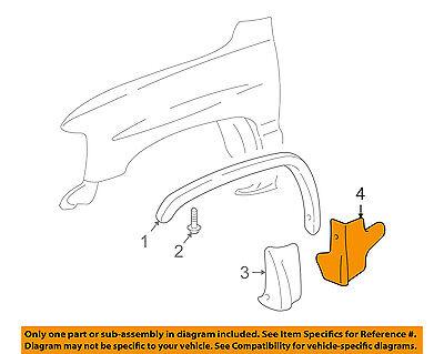 GM OEM Front Fender-Lower Molding Trim Panel Right 15768594
