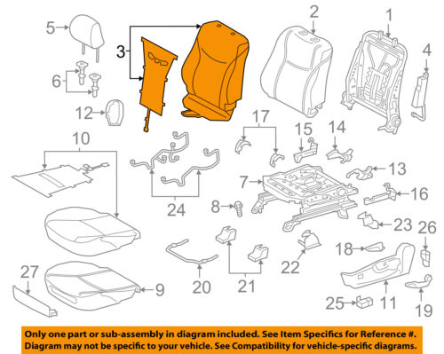 prius seat diagram wiring diagram database Prius Drawing toyota oem 15 17 prius v driver seat seat back cover 7107447690b5 ebay prius seat diagram
