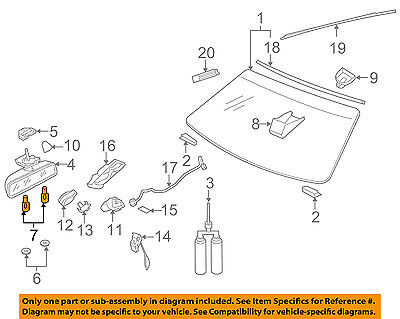 AUDI OEM 04-10 A8 Quattro Windshield-Bulb N90653801