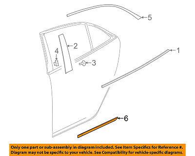 Chevrolet GM OEM 13-16 Malibu REAR DOOR-Body Side Molding Left 22798884