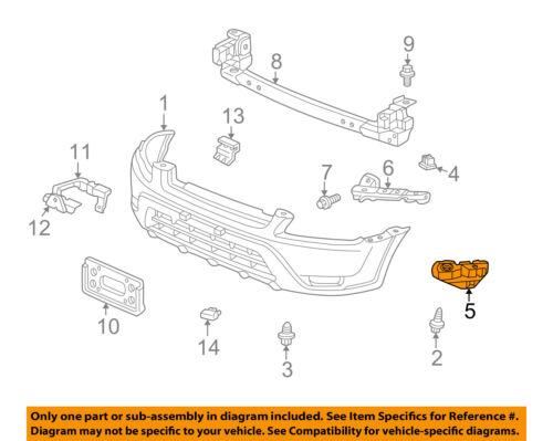 honda oem 02 06 cr v front bumper spacer support bracket left Ford Focus Front Bumper Diagram 5 on diagram only genuine oe factory original item