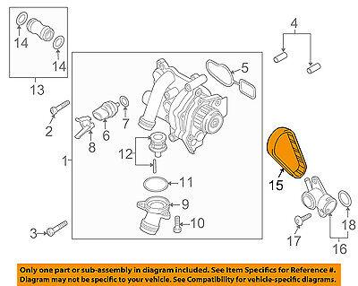 AUDI OEM 15-18 Q3 Quattro 2.0L-L4-Water Pump Belt 06H121605E