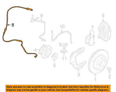 BMW OEM 12-15 328i ABS Anti-Lock Brake-Sensor 34356792289