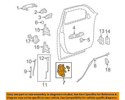 Chevrolet GM OEM 06-11 HHR Front Door-Lock Latch Kit 20791793