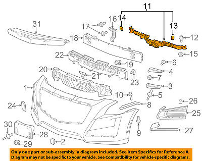 Cadillac GM OEM 14-18 CTS Front Bumper-Center Support 84319671