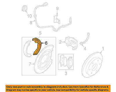 NISSAN OEM 05-14 Frontier Parking Brake-Rear Shoes 44060EA026