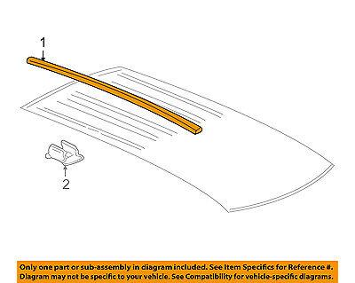 GM OEM Roof-Molding Trim Left 15906939