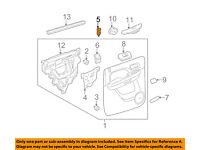 GM OEM-Door Lock Knob Post Pin 15844618