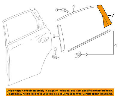 Acura HONDA OEM 14-16 MDX Exterior-Rear-Applique Window Trim Left 72761TZ5A11ZA