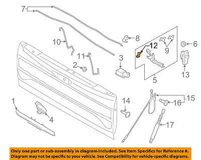 FORD OEM 15-17 F-150 Tail Gate Tailgate Hatch-Remote Control FL3Z9943170E