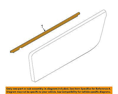 MAZDA OEM 16-18 MX-5 Miata Door-Belt Molding Left N24350650E