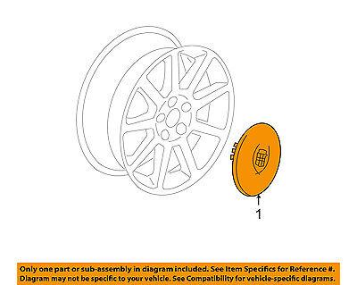 Cadillac GM OEM 07-08 DTS Wheels-Center Cap 9597187