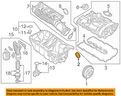 BMW OEM 2016 340i-Engine Crankshaft Crank Seal 11118604931