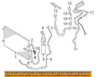 AUDI OEM 12-15 A4 Air Conditioner A/C-Refrigerant Pressure Sensor 4H0959126B