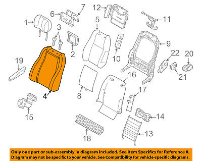 LAND ROVER OEM 13-17 Range Rover Passenger Seat-Seat Back Cover LR058262
