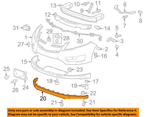 Chevrolet GM OEM Impala Front Bumper-Lower Spoiler Chin Lip Splitter 22990242