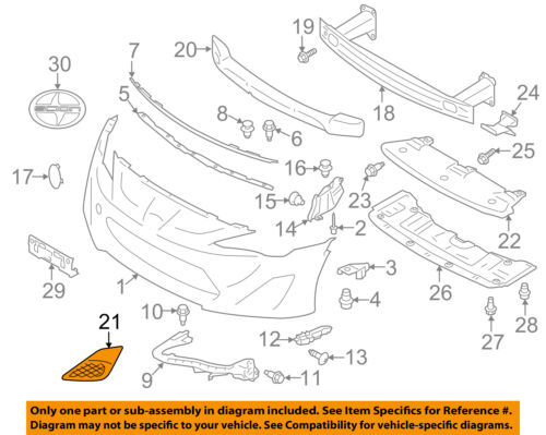 OEM SCION FR-S BUMPER HOLE COVER SU003-01517 FITS 2013-2016 DRIVER SIDE