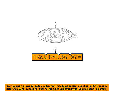FORD OEM 04-07 Taurus Trunk Lid-Emblem Badge Nameplate 4F1Z5442528DA