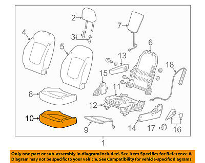 Chevrolet GM OEM 13-18 Spark Driver Seat-Cushion Cover 95394660