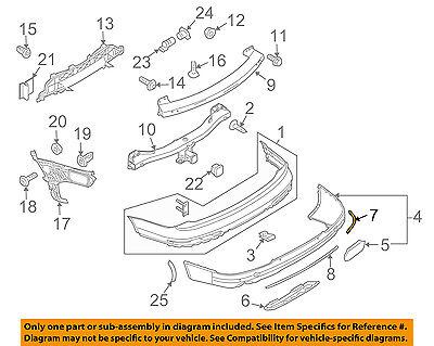 AUDI OEM 10-15 Q7-Bumper Trim-Outer Molding Right 4L08074602ZZ
