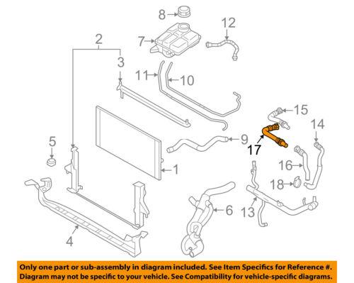 details about volvo oem 06-13 c70 2 5l-l5 radiator-heater hose 30636987