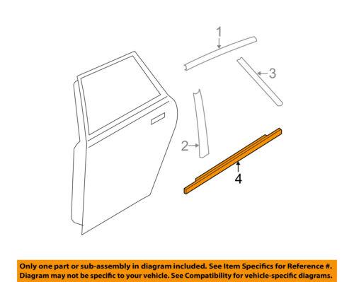 MAZDA OEM 10-13 3 Rear Window//Door-Belt Molding Weatherstrip Left BBN950670F