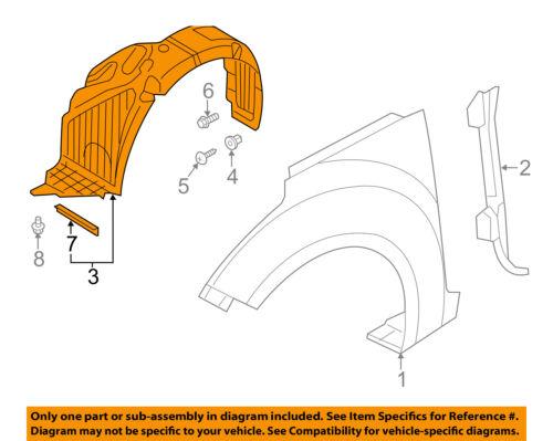 GENUINE Fender Liner FRONT DRIVER for 12-14 Hyundai Veloster OEM 868112V000⭐⭐⭐⭐⭐