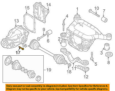 Bmw 325i Axle Assembly - BMW OEM 01-05 325i Rear Suspension-Axle Assembly Bolt 26117571956