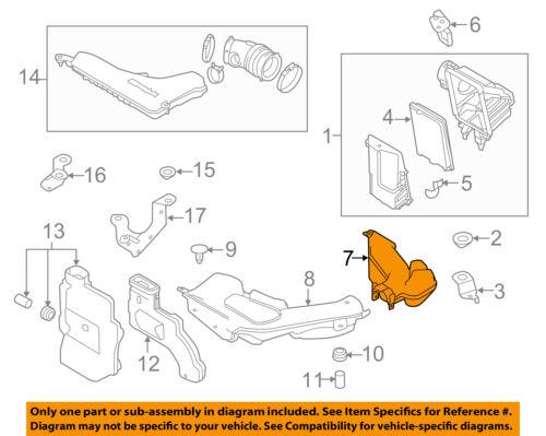 Genuine Nissan Air Intake Inlet Duct 16554-4BA1D