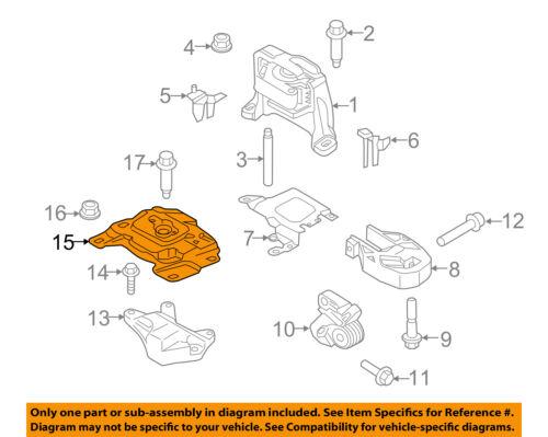 FORD OEM Focus Engine Transmission Mounting-Upper Transmission Mount AV6Z6068A