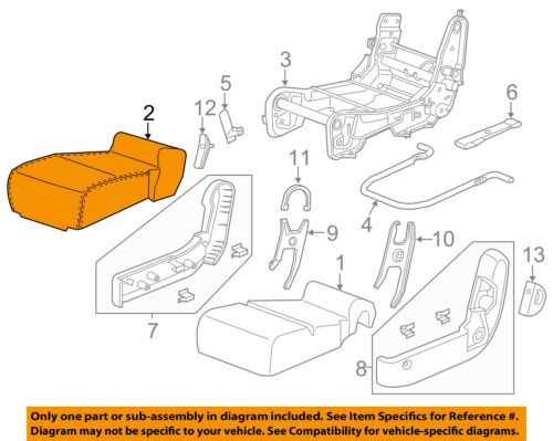 Honda Genuine 81931-TK8-A21ZC Seat Cushion Trim Cover Center