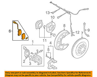 AUDI OEM 05-11 A6 Quattro Brake-Rear Pads 4F0698451F