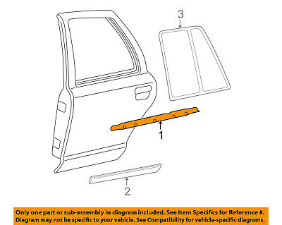 FORD OEM Rear Window//Door-Belt Molding Weatherstrip Left CT4Z7825597A