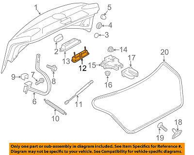 VW VOLKSWAGEN OEM 17-18 Passat Trunk Lid-Release Switch 561827566D9B9