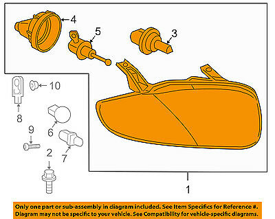 Chevrolet GM OEM 03-05 Cavalier-Headlight Assembly 22707273 Chevrolet Cavalier Headlight Assembly