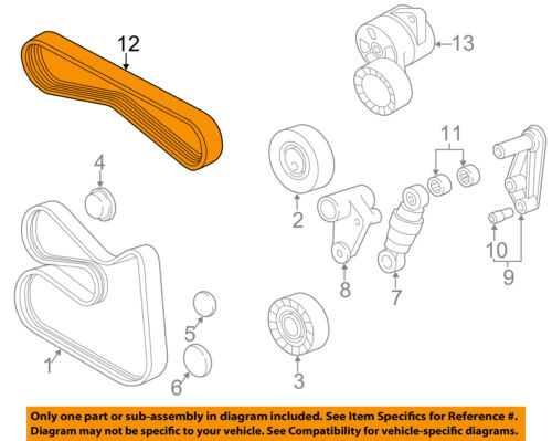 details about bmw oem 03 06 325ci a c ac serpentine belt 11287512762  03 325i belt diagram #14