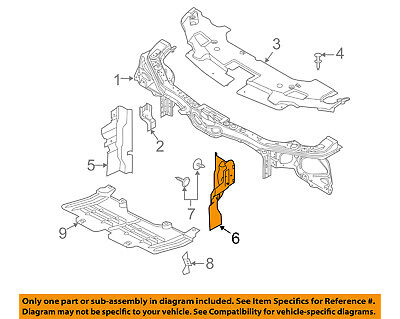 FORD OEM Mustang Radiator Support-Side Air Baffle Duct Deflector Left DR3Z8311A Air Baffle Duct